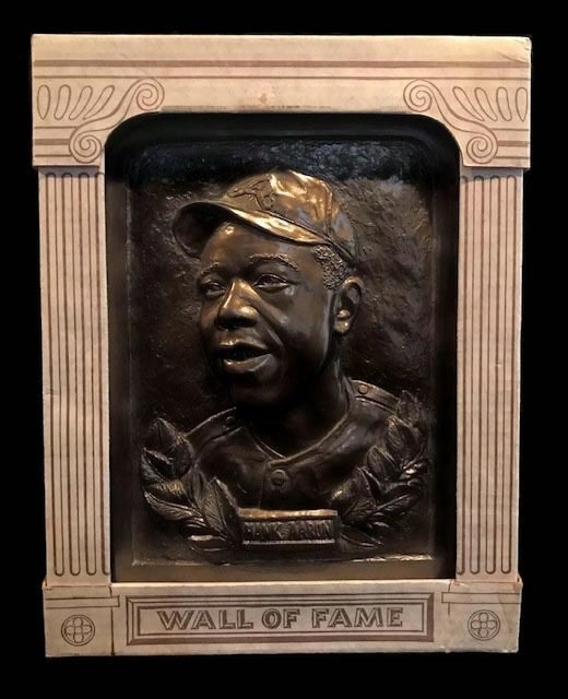 1970's Hank Aaron Wall of Fame Plaque