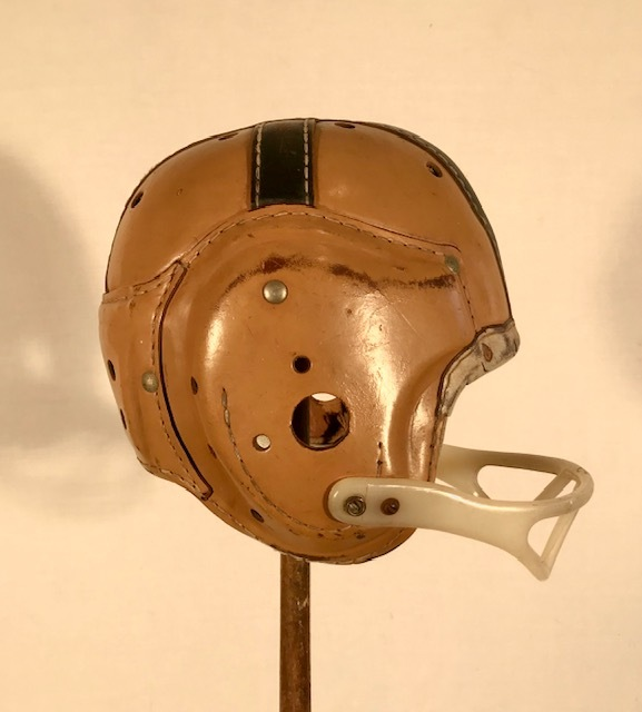 Notre Dame Leather Football Helmet - 1940's