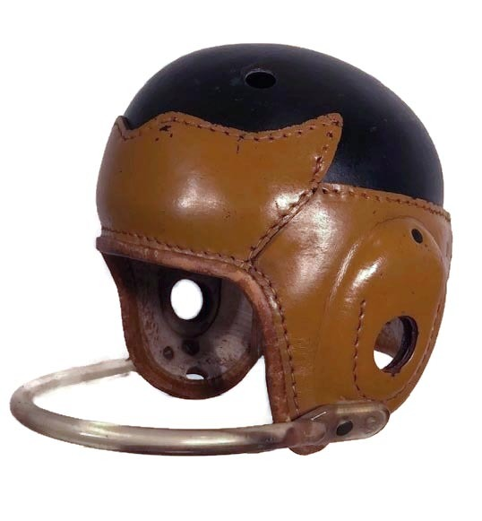 Antique Leather Football Helmet - Wing-Front Style