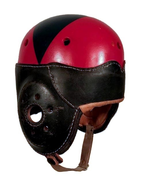 1930-40's Antique Leather Football Helmet