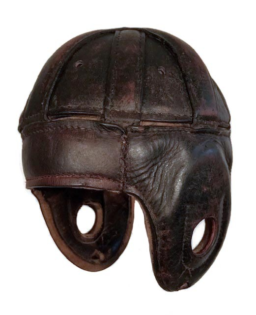 1920's Leather Football Helmet Spalding Model ZH