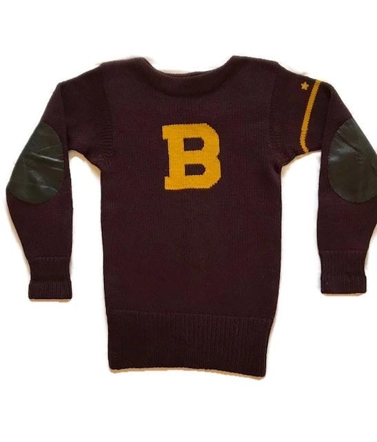 1920's Wool Football Jersey w/ Leather Padded Elbows