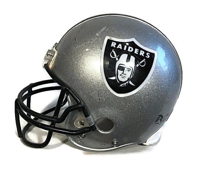 2010 Oakland Raiders Game Used Football Helmet - Riddell