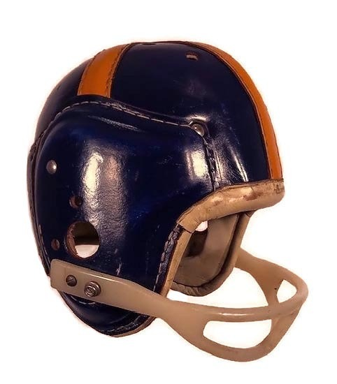 AWESOME 1940's MacGregor H612 Leather Football Helmet