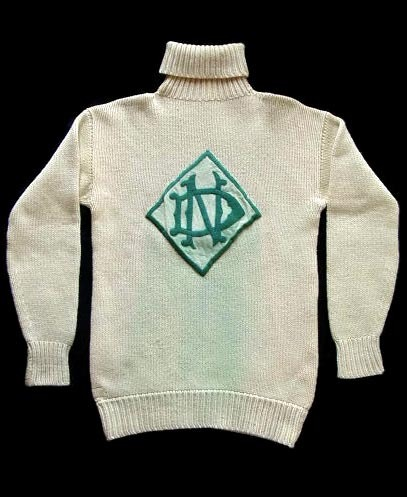 1902 - 1903 Football Sweater, Spalding High Collar