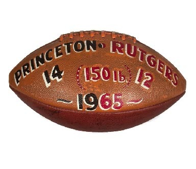 1965 Team Signed, Princeton Trophy Football - Spalding J5-V