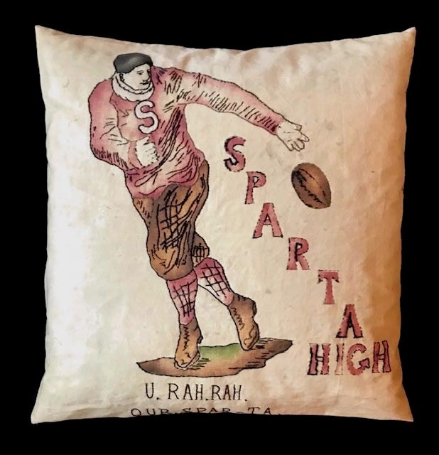 1910's Sparta High Football Pillow