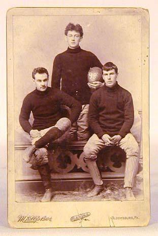 1893 Football Cabinet Card Photo of Bloomsburg University in Pennsylvania