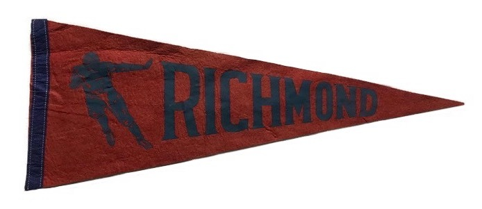 Antique College Football Pennant - University of Richmond