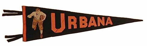 Antique Football Pennant - Urbana 1900-1910