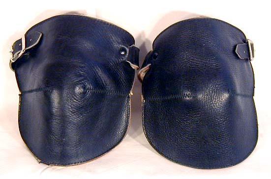 RARE 1920's Black Leather Basketball Knee Pads
