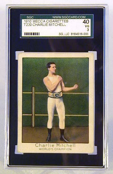 1910 Mecca Cigarettes T220 Charlie Mitchell Boxing Card, SGC 40