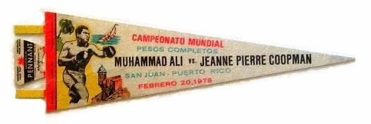 1976 Muhammad Ali Fight Pennant