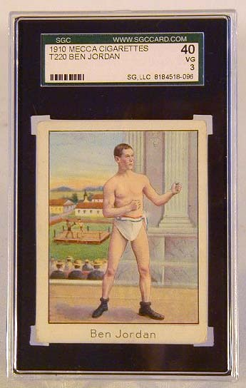 1910 Mecca Cigarettes T220 Ben Jordan Boxing Card, SGC 40