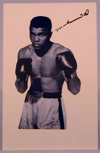 1960's Muhammad Ali Signed Photo