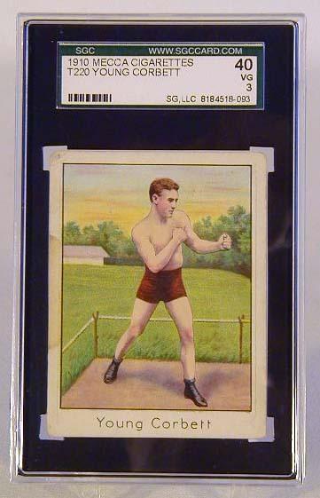 1910 Mecca Cigarettes T220 Young Corbett Boxing Card, SGC 40