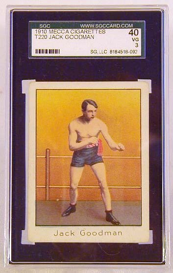 1910 Mecca Cigarettes T220 Jack Goodman Boxing Card, SGC 40