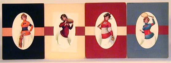 1900-05 Woman in Sports Oversized Postcard Set