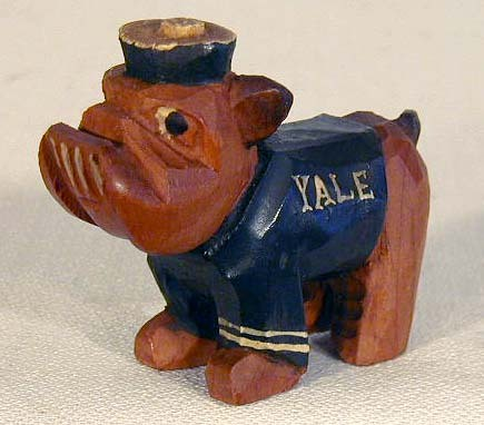 Rare MINIATURE, 1950's Yale University, Carter Hoffman College Mascot