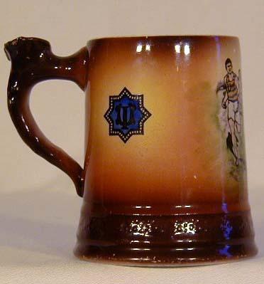 1900-10's Track and Field Illinois University Ceramic Mug