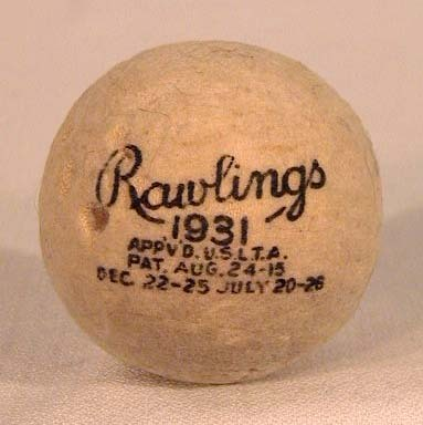 Factory Dated 1931 Rawlings Seamless Tennis Ball - Very Rare