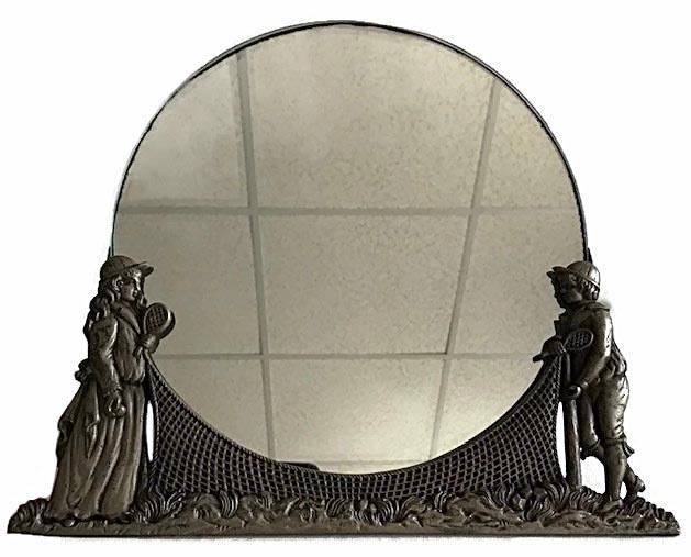Turn of the Century Tennis Scene Mirror Frame