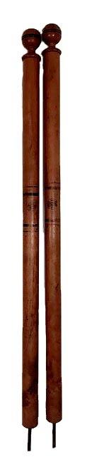 1892 Spalding Wooden Tennis Posts