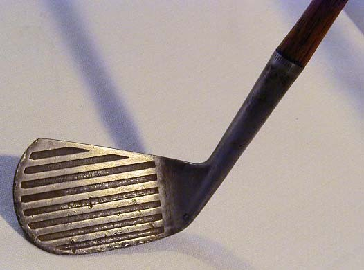 1900-05 Spalding Hickory Shaft Deep Groove Iron