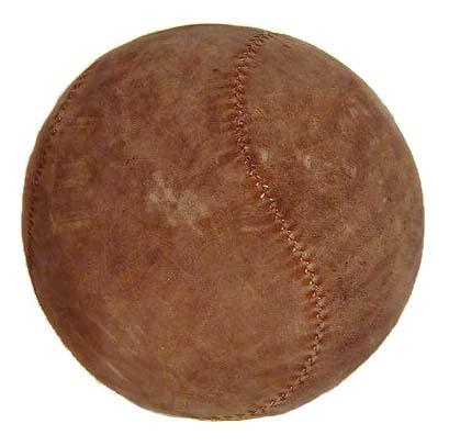 Turn of the Century Medicine Ball with Baseball Stitch Pattern