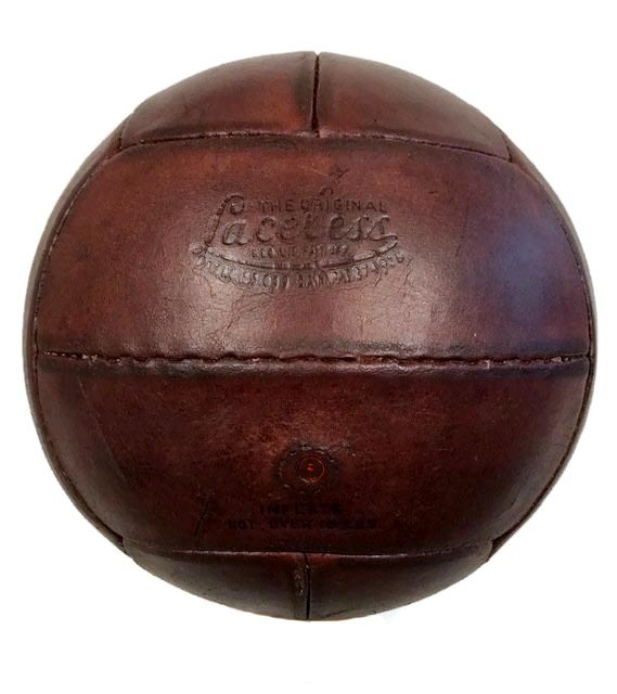 1940's Laceless Leather Soccer Ball made by MacGregor GoldSmith