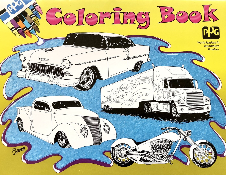 PPG Antique Auto Coloring Book