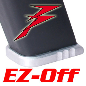 DP EZ-Off Baseplate for Para Hi Cap Mags, Standard Height, Silver