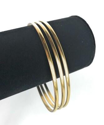 La Vie Parisienne CLASSIC GOLD BANGLES(3)