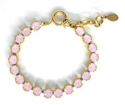 La Vie Parisienne TENNIS BRACELET Gold With Rose-Water Swarovski Crysal