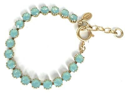 La Vie Parisienne TENNIS BRACELET Gold With Pacific Opal Swarovski Crysal