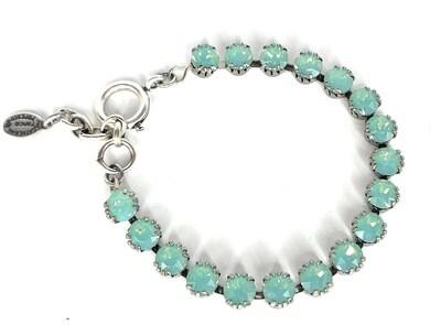 La Vie Parisienne TENNIS BRACELET Silver With Pacific Opal Swarovski Crysal