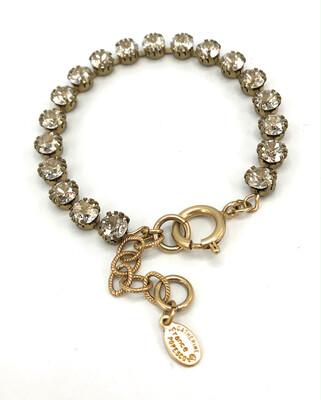 La Vie Parisienne TENNIS BRACELET Gold With Light Gray Swarovski Crystal