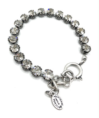 La Vie Parisienne TENNIS BRACELET Silver With Light Gray Swarovski Crystal