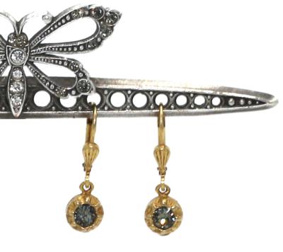 La Vie Parisienne PETITE FERRERO ROCHER Gold With Dark Gray Swarovski Crystal