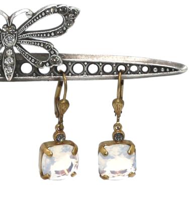 La Vie Parisienne OPRAH Gold With White Opal Swarovski Crystal