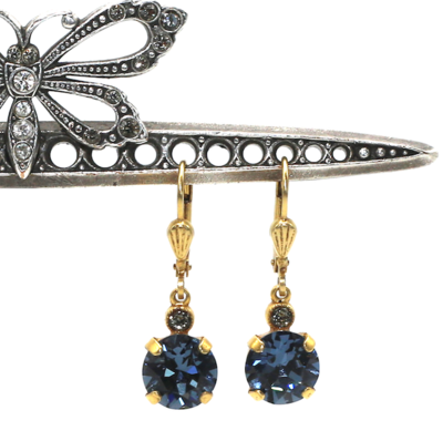 La Vie Parisienne JELLY TOTS Gold With  Midnite-Blue Swarovski Crystal