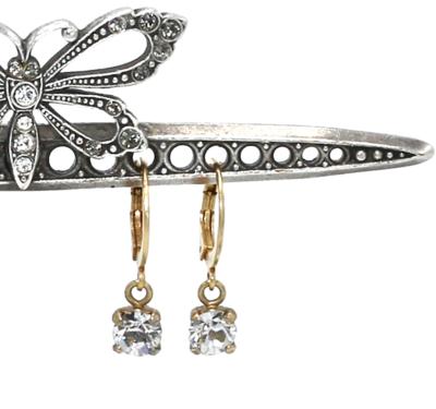La Vie Parisienne SARAH ROSE Clear Swarovski Crystal with Gold Sleeper