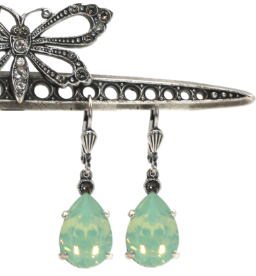 La Vie Parisienne EMPRESS CUT Gold With Pacific Opal Swarovski Crystal