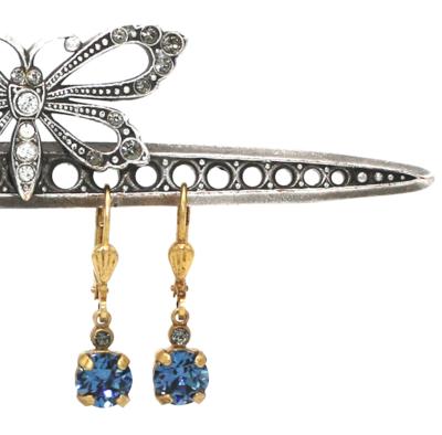 La Vie Parisienne NICOLE Gold With  Midnite-Blue Swarovski Crystal