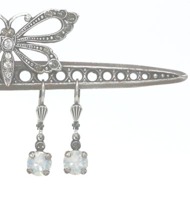 La Vie Parisienne LITTLE JELLY TOTS Silver With  White Opal Swarovski Crystal
