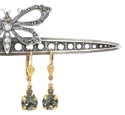 La Vie Parisienne LITTLE JELLY TOTS Gold With  Dark Gray Swarovski Crystal