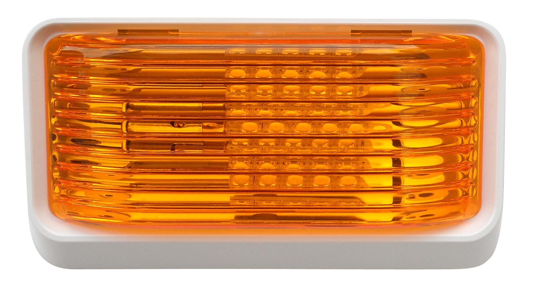 LED Porch Light Amber Lens 52726