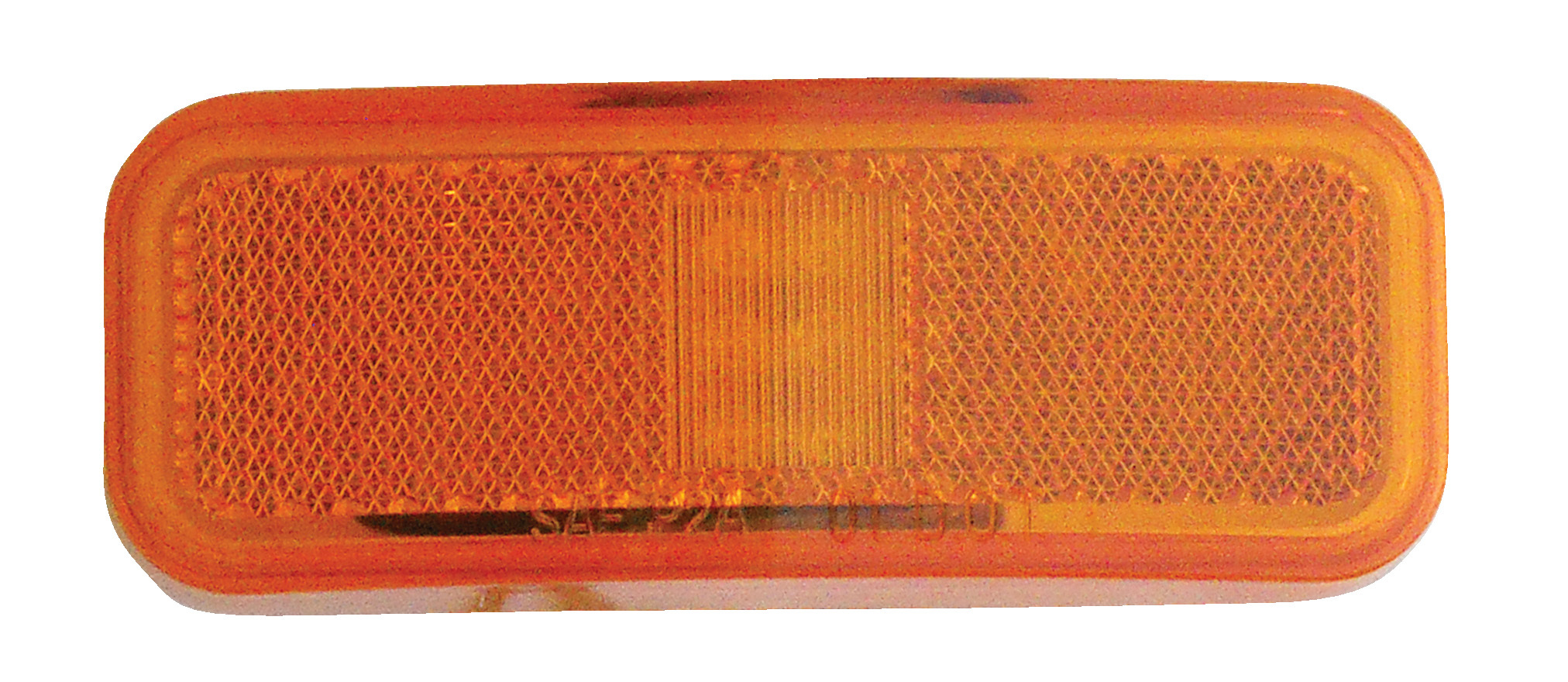 """Weatherproof LED 4"""" x 1.5"""" Marker Light with Reflector - Amber 52718"""