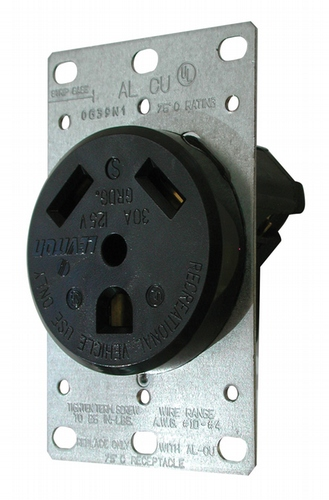 30A Receptacle with Plate