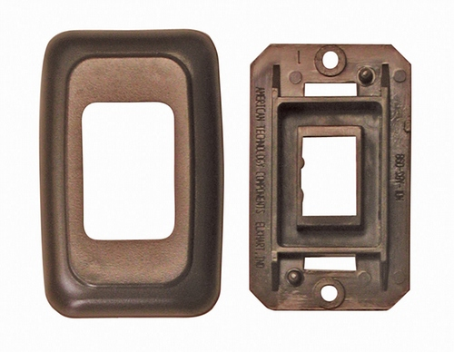 Single Base and Plate Contour Wall Plate Assembly - Brown